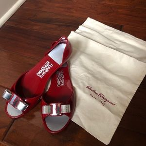 S. Ferragamo Miscellan Shoes - Red Size 9